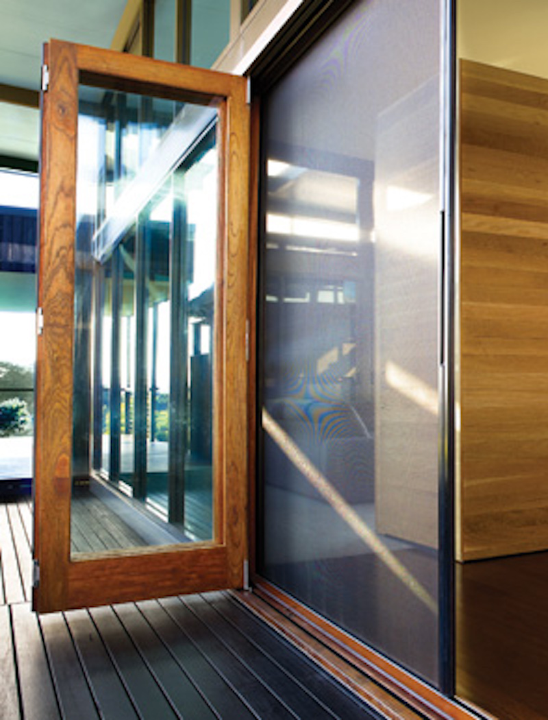 Brio screen doors brio pleated insect screens by the for Accordion retractable screen doors